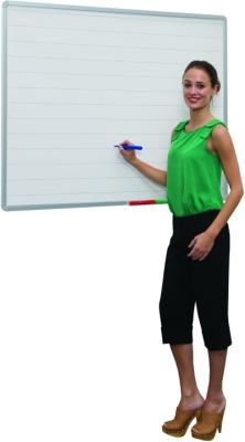 75mm Line Markings Writing White Boards - 2400 x 1200mm