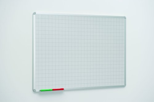50mm Square Markings Writing White Boards - 900 x 600mm