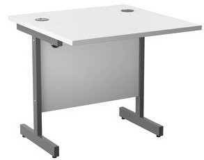 TC Office Single Upright Rectangular Desk - (w) 800mm x (d) 800mm
