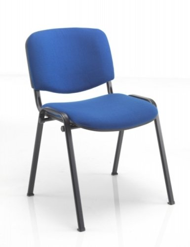 TC Office Club Fabric Black Frame Chair Chair With Moulded Arms