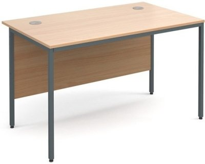 Dams Maestro H-Frame Rectangular Desk with Back Modesty Panel - (w) 1228mm x (d) 746mm