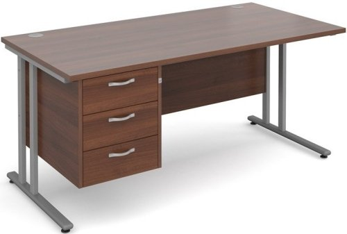 Dams Bulk Maestro 25 Rectangular Desk with 3 Shallow Drawers - (w) 1600mm x (d) 800mm