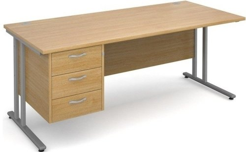 Dams Bulk Maestro 25 Rectangular Desk with 3 Shallow Drawers - (w) 1200mm x (d) 800mm