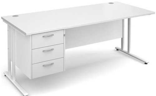 Dams Maestro 25 Rectangular Desk with 3 Shallow Drawers - (w) 1800mm x (d) 800mm