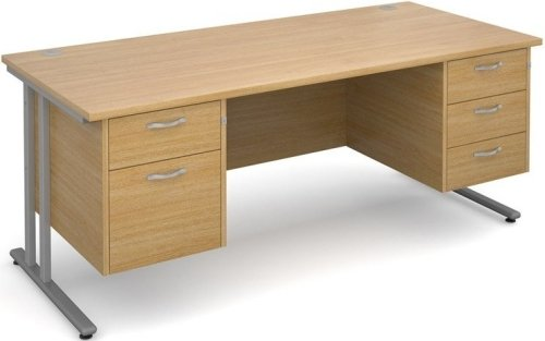 Dams Maestro 25 Rectangular Desk with 4 Shallow & 1 Filing Drawer - (w) 1800mm x (d) 800mm
