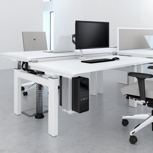 Elite Progress Electric Double Bench Height Adjustable Sit & Stand Desk MFC 1600 x 1600mm