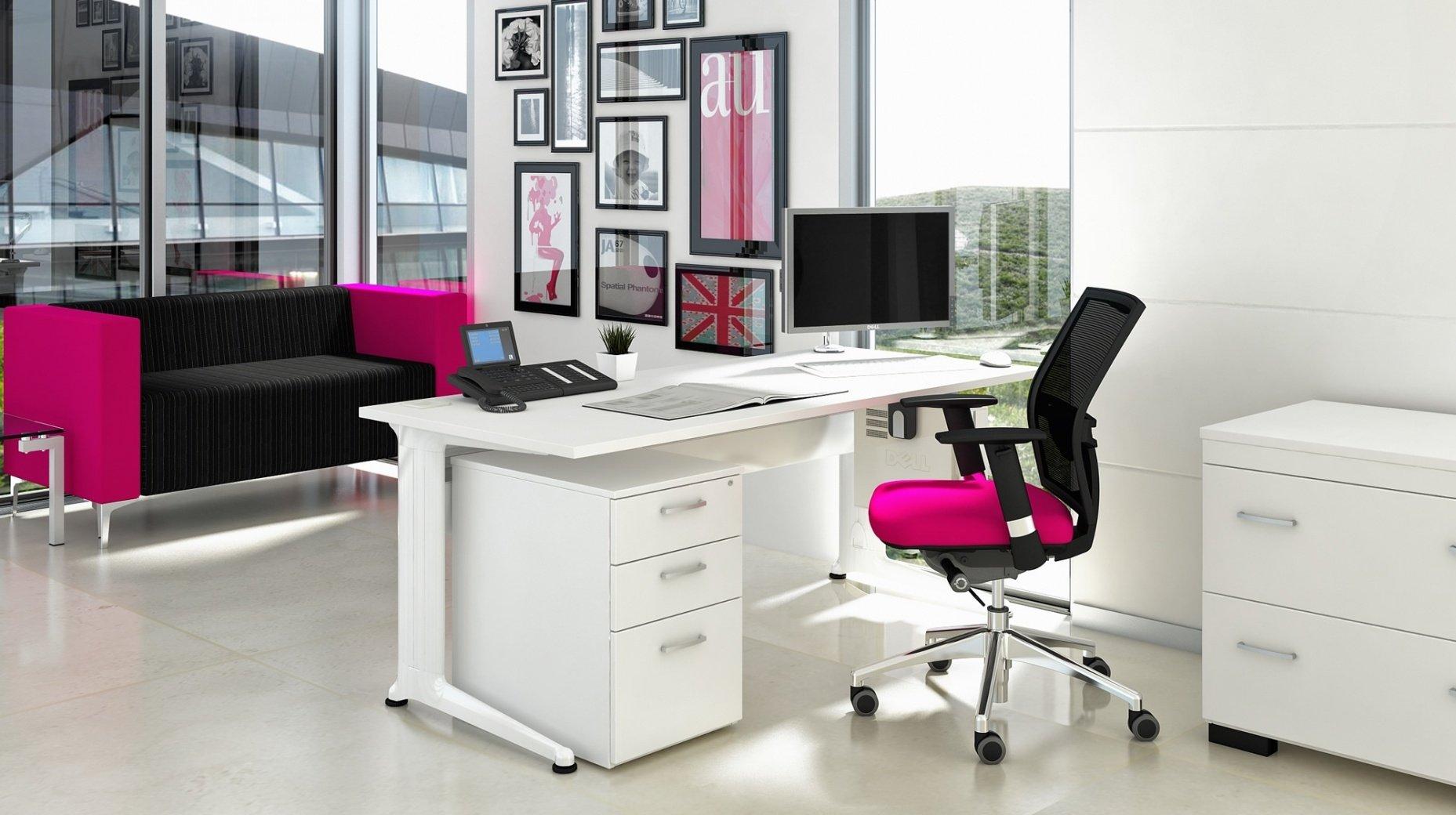 Elite Kassini Single Wave Desk 1200 X 800 600mm MFC Finish
