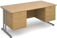Dams Maestro 25 Desk - 4 Shallow & 1 Filing Drawer