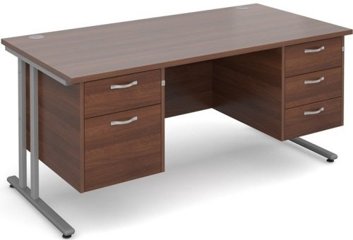 Dams Bulk Maestro 25 Rectangular Desk with 4 Shallow & 1 Filing Drawer - (w) 1600mm x (d) 800mm