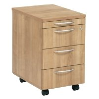 TC Office E Space 3 Drawer Mobile Pedestal with Pen Tray