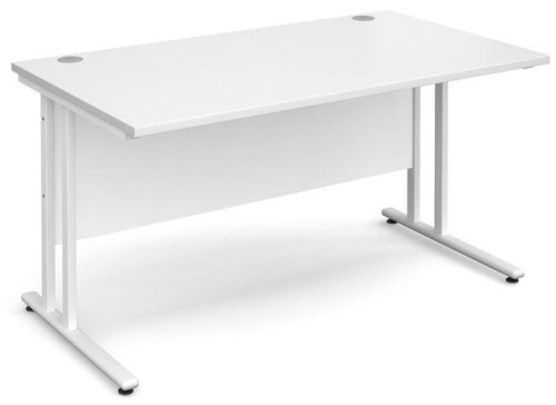 Dams Maestro 25 Rectangular Desk - (w) 1400mm x (d) 800mm