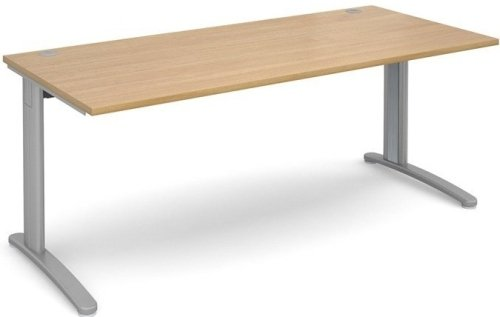 Dams TR10 Rectangular Desk with Cable Managed Legs - (w) 800mm x (d) 800mm