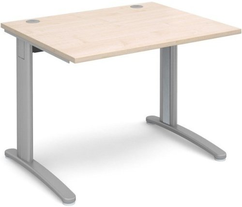 Dams TR10 Rectangular Desk with Cable Managed Legs - (w) 1000mm x (d) 800mm