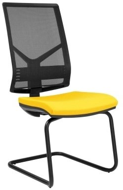 Elite Mix Black Mesh Cantilever Meeting Chair Without Arms