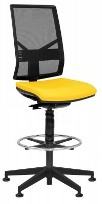 Elite Mix Black Mesh Draughtsman Chair Without Arms