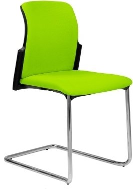 Elite Leola Fully Upholstered Cantilever Chair Without Arms