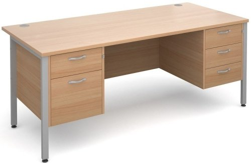 Dams Maestro 25 H-Frame Rectangular Desk with 4 Shallow & 1 Filing Drawer - (w) 1800mm x (d) 800mm