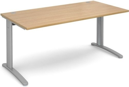 Dams TR10 Rectangular Desk with Cable Managed Legs - (w) 1600mm x (d) 800mm