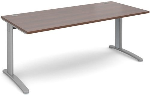 Dams TR10 Rectangular Desk with Cable Managed Legs - (w) 1800mm x (d) 800mm