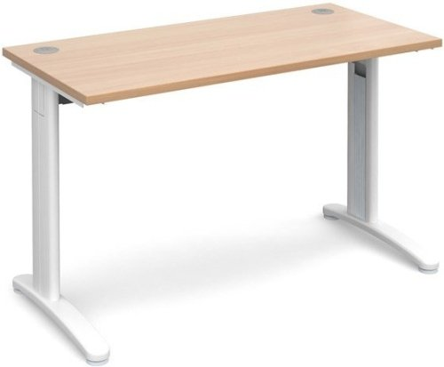 Dams TR10 Rectangular Desk with Cable Managed Legs - (w) 1200mm x (d) 600mm