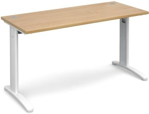 Dams TR10 Rectangular Desk with Cable Managed Legs - (w) 1400mm x (d) 600mm