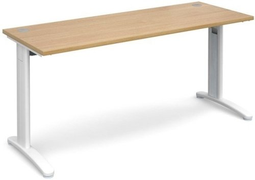 Dams TR10 Rectangular Desk with Cable Managed Legs - (w) 1600mm x (d) 600mm