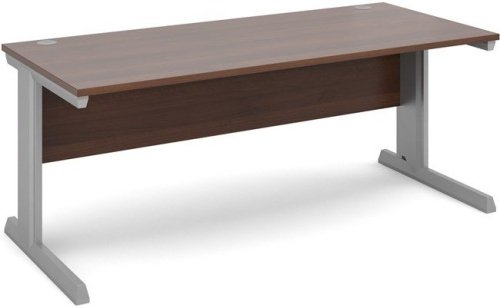 Dams Vivo Rectangular Desk with Cable Managed Legs - (w) 800mm x (d) 800mm