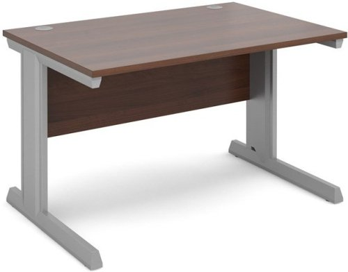 Dams Vivo Rectangular Desk with Cable Managed Legs - (w) 1200mm x (d) 800mm