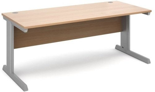 Dams Vivo Rectangular Desk with Cable Managed Legs - (w) 1800mm x (d) 800mm