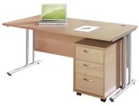 Dams Bulk Desk, 3 Drawer Pedestal