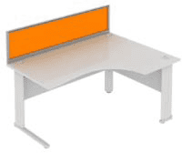 Elite System Desk Mounted Acrylic Screen - Width 773mm