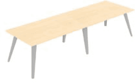Elite Reflex Rectangular Meeting Table 4800 x 1200 x 740mm