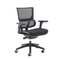 Dams Dynamo Mesh Back Chair with Fabric Seat