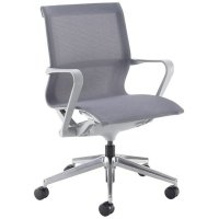 Dams Lola Medium Back Visitors Chair With Aluminium 5 Star Base