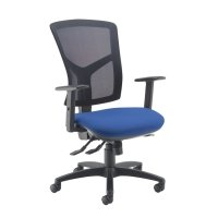 Dams Bulk Senza Mesh High Back Operator Chair with Adjustable Arms