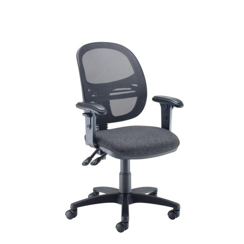 Dams Vantage Mesh Medium Back Operator Chair With Adjustable Arms