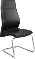 Elite Ultima Executive Black Leather Cantilever Meeting Chair
