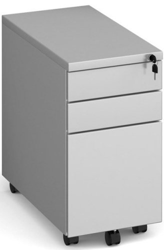 Dams Bulk 3 Drawer Mobile, Slim Steel Pedestal