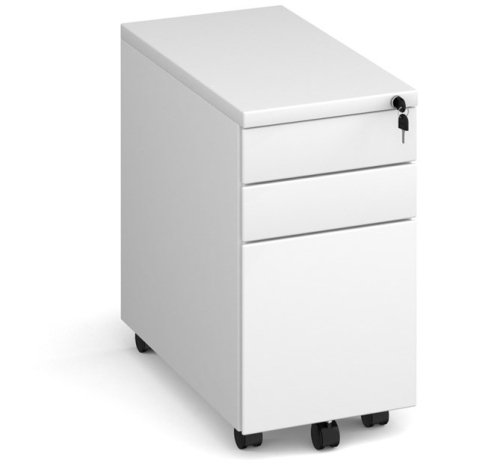 Dams Steel Narrow Mobile Pedestal 3 Drawer