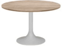 Elite Circular Trumpet Base Meeting Table MFC Finish - 1000 x 725mm