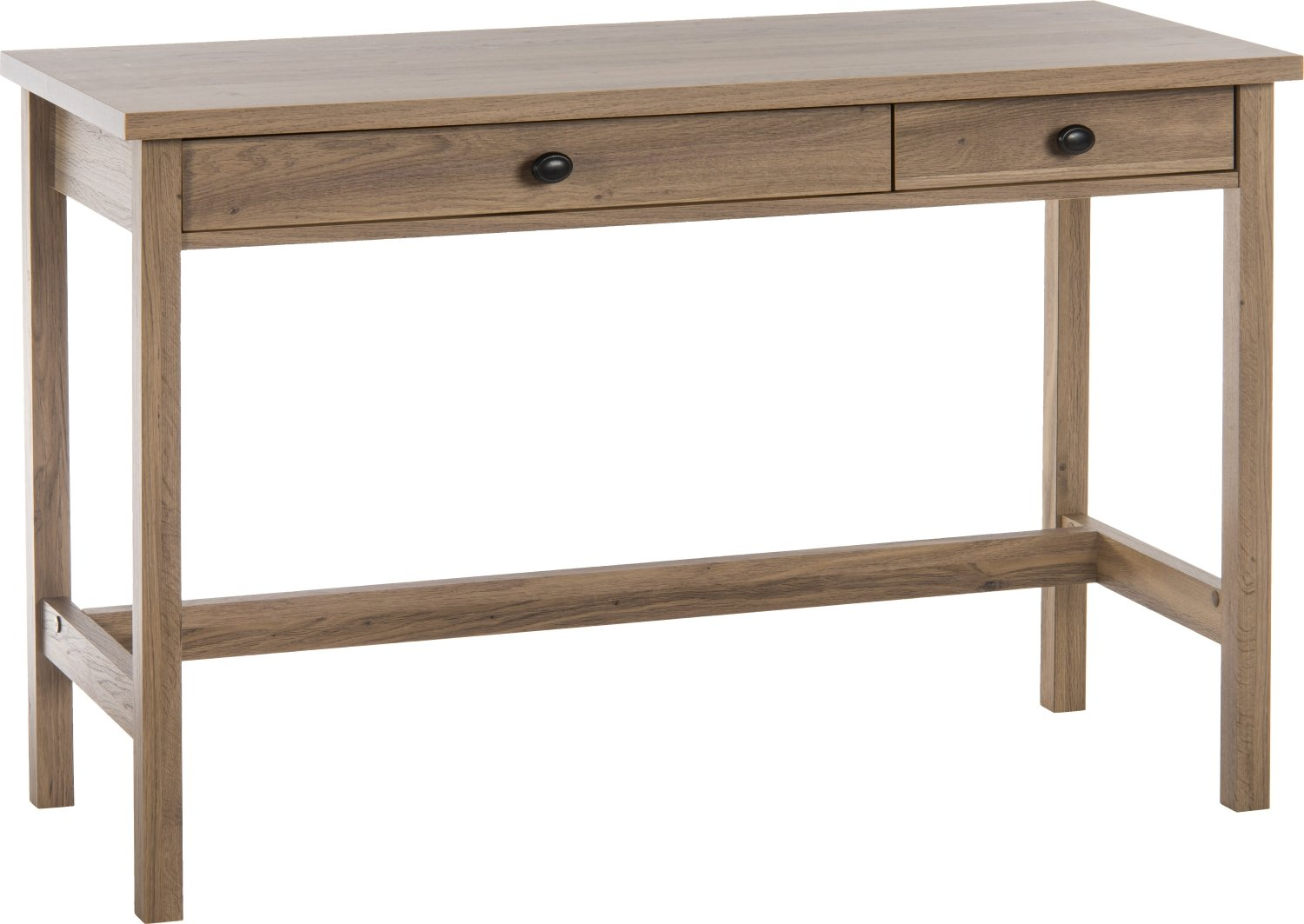 Teknik Study Desk Salt Oak - (w) 43mm x (d) 43mm