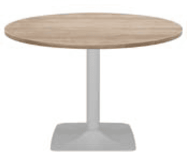 Elite Circular Pyramid Base Meeting Table MFC Finish - 800 x 725mm
