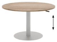 Elite Sit & Stand Meeting Table MFC Finish - 1000 x 725-1050mm