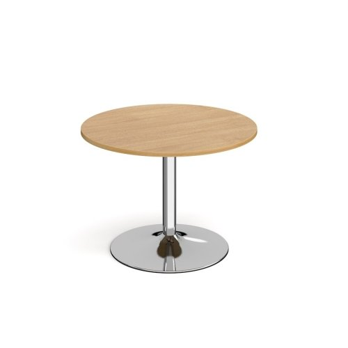 Dams Genoa Circular Dining Table With Trumpet Base 1000mm Diameter