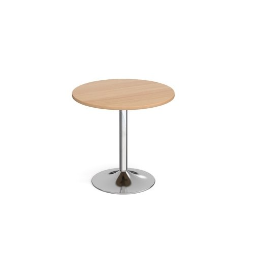 Dams Genoa Circular Dining Table With Trumpet Base 800mm Diameter
