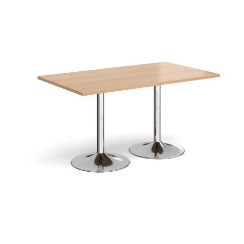 Dams Genoa Rectangular Dining Table With Trumpet Base 1400 x 800mm Diameter