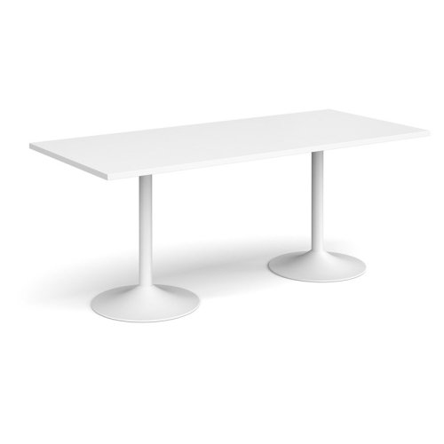 Dams Genoa Rectangular Dining Table With Trumpet Base 1800 x 800mm Diameter