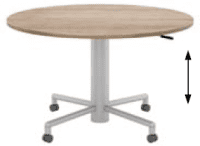Elite Mobile Sit & Stand Meeting Table MFC Finish - 1000 x 725-1050mm
