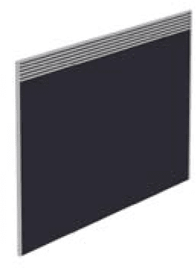 Elite Floor Standing Screen With Management Rail - Fabric 1773 x 27 x 1115mm