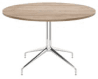 Elite Rio Circular Meeting Table MFC Finish - 1000 x 725mm